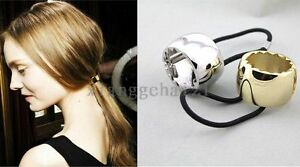 Fashion-Stylish-Personality-Punk-Metal-Hair-Cuff-Band-Ponytail-Holder-with-Gear