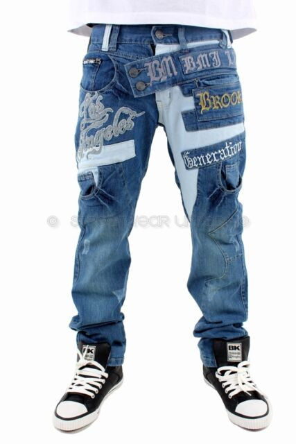 Brooklyn Mint Los Angeles Time Denim Bar Jeans Hip Hop Is Money All Sizes
