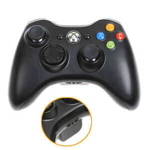 Microsoft-xBox-360-Wireless-Controller-Black-Genuine