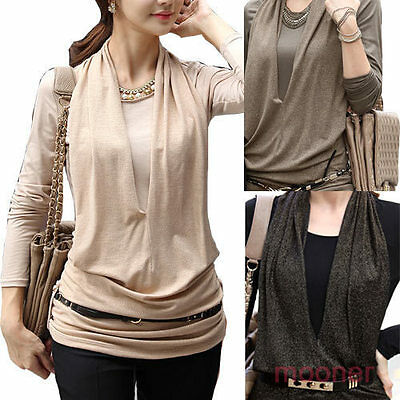 Korean Fashion Women Slim O-neck Casual Long Sleeve T-shirt Tops Blouse Party