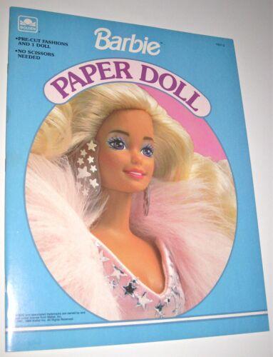 Golden 1991 Barbie Paper Doll Book Pre-Cut Fashions *UNCUT*