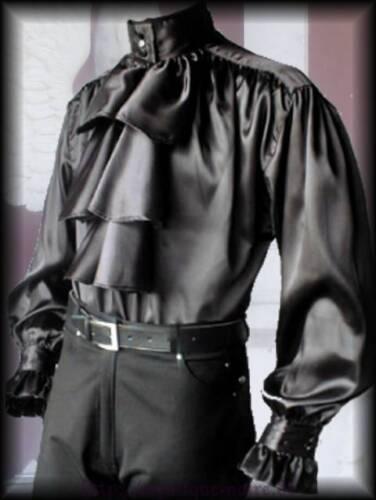 Rüschenhemd Hemd Draculas Dust Jabot Viktorianisch Steampunk Vampir schwarz