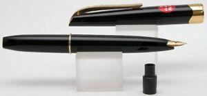 Platinum-PG-250-Black-Gold-BIG-CAP-Fountain-Pen-NEW