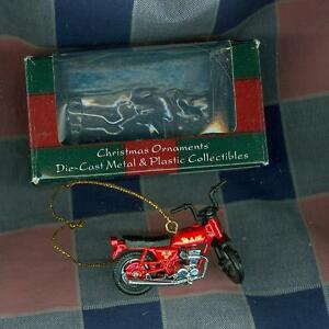 Maisto-Diecast-Plastic-Christmas-Ornament-Motorcycle-1-1-2-Inch-High-Box