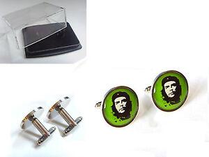El-Che-Guevara-Cuba-Argentine-Hommes-Boutons-de-manchette-Plus-Signature-Cadeau