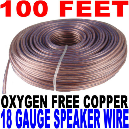 100/'ft feet 18 awg ag Gauge Audio Speaker Wire Cable