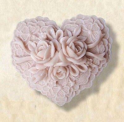 Soap Mold Moulds Rose Flower Heart Flexible Silicone Mold For Soap Candy