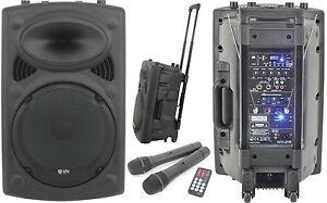 QTX-QR15PA-500W-Trolley-PA-System-Fitness-Zumba-178-846-Twin-Wireless-Mics