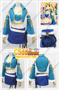 Fairy Tail Lucy Heartfilia Cosplay Costume New Version Any Size Ebay