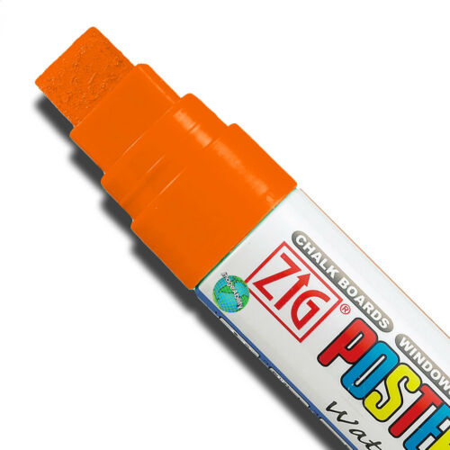 Waterproof Zig Posterman Big and Bold Tip Paint Markers 5//8 inch semi-permanent