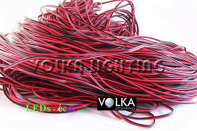 2 PIN 20 AWG Extension Connector Wire Cable Cord For LED Light 5 meter