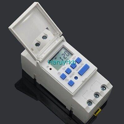 Digital lcd clock programmer timer 12v 16A Relay Switch F/ chicken coop solar