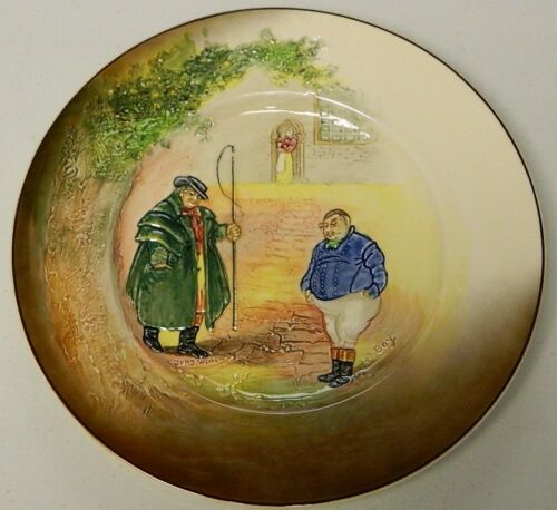 "ROYAL DOULTON FAT BOY & TONY WELLER 1012"" PLATE D5833"