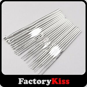 Set-of-22-Sizes-Aluminium-Knitting-Knit-Crochet-Needles-Hooks-4-8-US-0-5-5-0mm