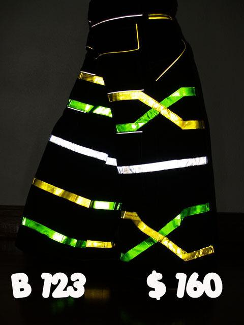 Raver ore Techno Hardstyle Tanz Hose fluoreszierend Shuffle DJ CSD PHAT Pants U