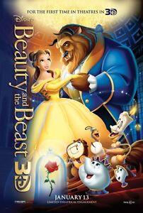 Walt-Disney-039-s-BEAUTY-amp-THE-BEAST-3D-2012-Original-DS-2-Sided-27x40-Movie-Poster