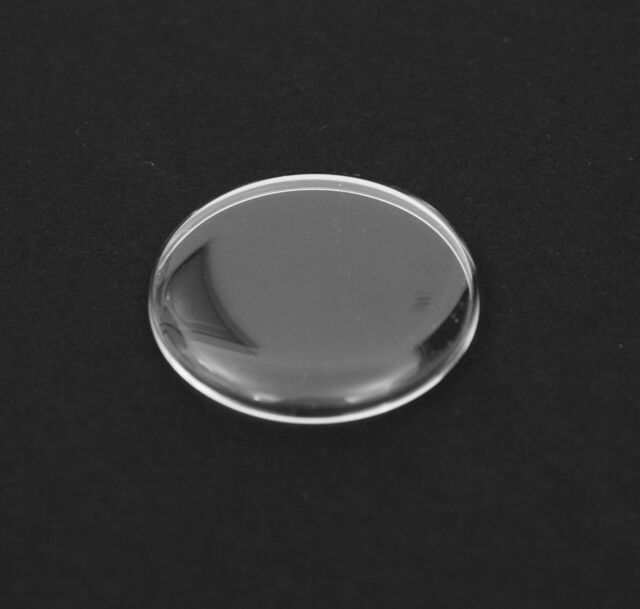 DOMED ROUND PLASTIC WATCH GLASS - SELECT SIZE FROM 27.8 mm TO 32.4 mm