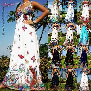 NEW-NWT-White-Evening-Summer-Sexy-Women-Long-Maxi-Dress-Size-Sz-M-XXXL-8-24-AU