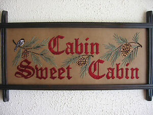 Victorian-motto-sampler-Cabin-Sweet-Cabin-perforated-paper-Embroidery-kit-new