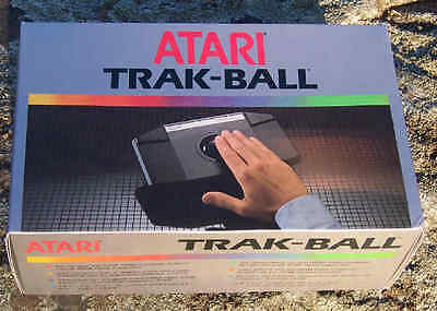 Trackball CX80 2600/7800/800/XL/XE Atari New in Box with dents on box.