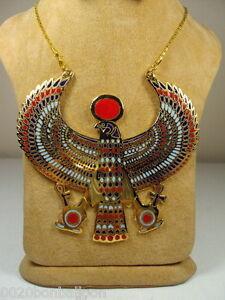 EGYPTIAN-HORUS-JEWELRY-NECKLACE-ANKH-HUGE-XXXL-SOLID-METAL-BRASS-HANDMADE