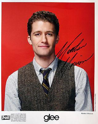 Matthew Morrison signed 2011 Glee publicity photo / autograph 8x10