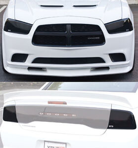 11 14 Charger Acrylic Smoke Gts Headlight Fog Driving