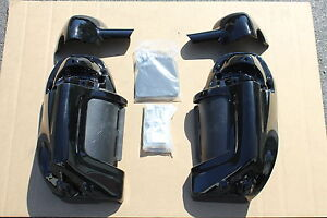 Harley-Davidson-HD-Lower-Vented-Fairing-ABS-Painted-Vivid-Black-W-Quick-Change