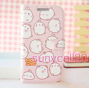Cute-Pink-Rabbit-lovely-Flip-Leather-Case-Cover-For-Samsung-i9300-Galaxy-S3