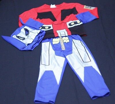 Transformer Optimus Outfit Boys Kids Child Party Costume Present Gift 2-7Year