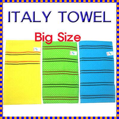 Italy Towel - Korean Bath Massage Towel(Big Size)/Washcloth/Body Scrubber(3P)