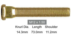 LONG-WHEEL-STUD-12mm-x-1-5mm-COMMODORE-MITSUBISHI-amp-TOYOTA-73mm-part-S3400