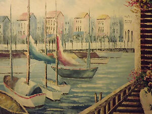 mediterranean-view-sea-boats-harbour-large-oil-painting-canvas-ocean-modern-art