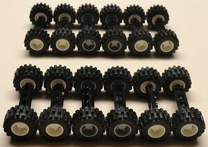 NEW-60-pc-Lego-Wheels-Vehicle-Parts-Car-Truck-Tires-amp-Rim-Sets-LOT-lbs-pounds