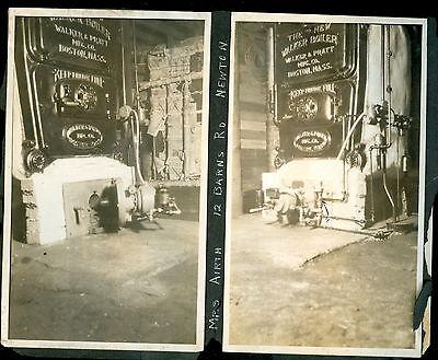 c1910 Walker & Pratt Mfg Boston Boiler Photos Newton Woburn MA Tripp Airth House