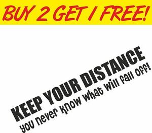 keep your distance funny 4x4 off road window land rover vinyl sticker decal ebay. Black Bedroom Furniture Sets. Home Design Ideas