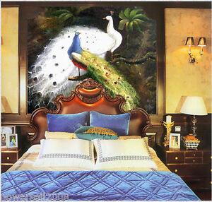Murals-European-Digital-Painting-Parlor-Bedroom-TV-Background-Wallpaper-Peacock