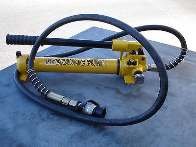 "10000Psi Hydraulic Cylinder Ram Hand Pump W/ 1.2m Hose & 3/8"" Couple Fitting"