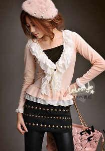 D9032-Japan-Korea-Fashion-Women-Gift-New-Style-Black-Rivet-Mini-Skirt
