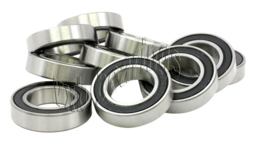 Ball Bearing 6803-2RS 17x26x5 Sealed Bearings Pack 10