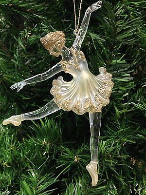 kurt s adler acrylic pearl ballerina on pointe ballet dancer christmas ornament