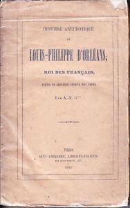 C1-Orleanisme-HISTOIRE-ANECDOTIQUE-LOUIS-PHILIPPE-ORLEANS-Roi-des-Francais-1846