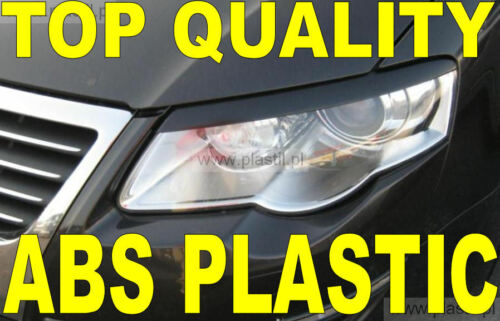 VW  Passat B6 3C 2005-2010 eyebrows headlights spoiler incl adhesive tape ABS