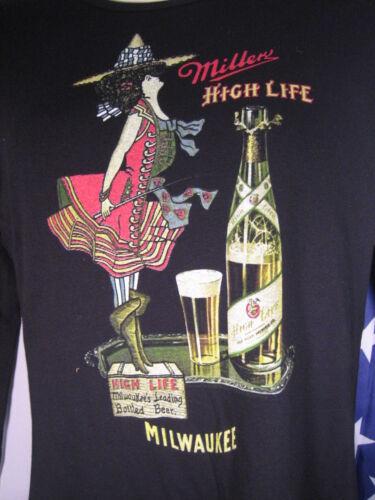MD Ladies Miller HIGH LIFE lite Girl MOON Barkeep Bartender Beer Waitress M