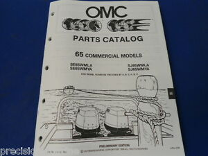 1990, 65 Commercial Models OMC Evinrude Johnson Parts Catalog