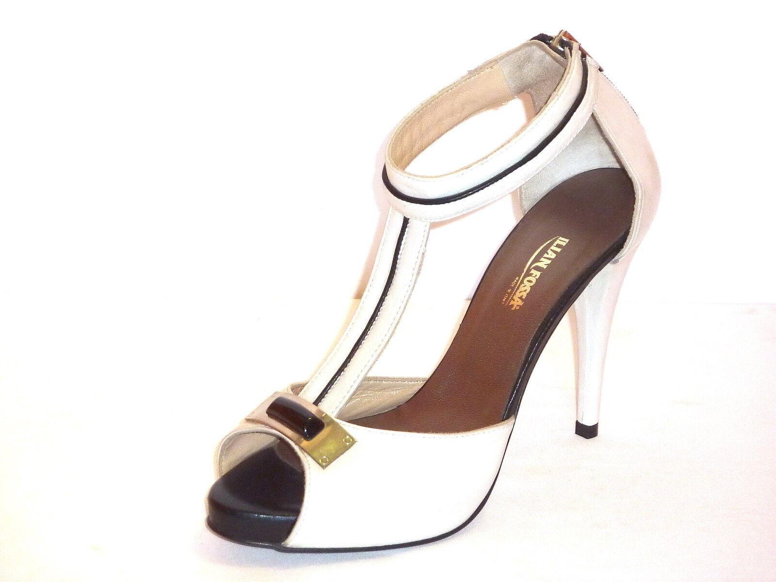 SANDALI mujer mujer mujer IN PELLE zapatos DECOLLETE TACCO ALTO PLATEAU ILIAN FOSSA' 36  Precio al por mayor y calidad confiable.