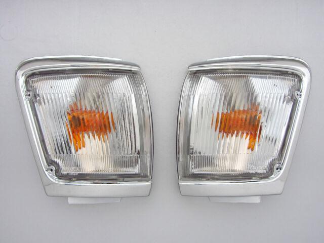 88 - 97 TOYOTA HILUX LN103 LN104 CHROME INDICATOR CORNER LIGHT PAIR X CAB PLUS