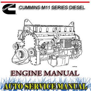 cummins m11 series diesel engine workshop service repair manual   dvd ebay
