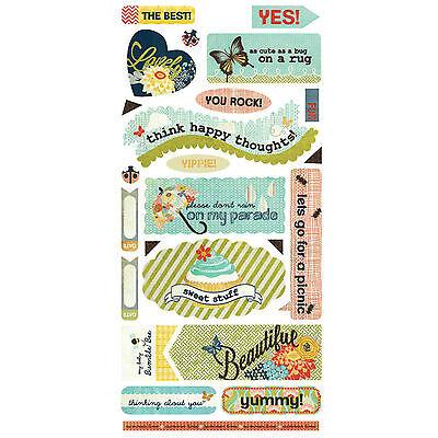 BasicGrey PB&J TITLES Cardstock Stickers scrapbooking