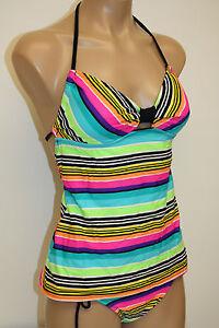 NWT-Hobie-Swimsuit-Bikini-2ps-set-adj-hipster-pant-and-Tankini-top